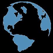 ilustacja wektorowa - widok globu ziemskiego
