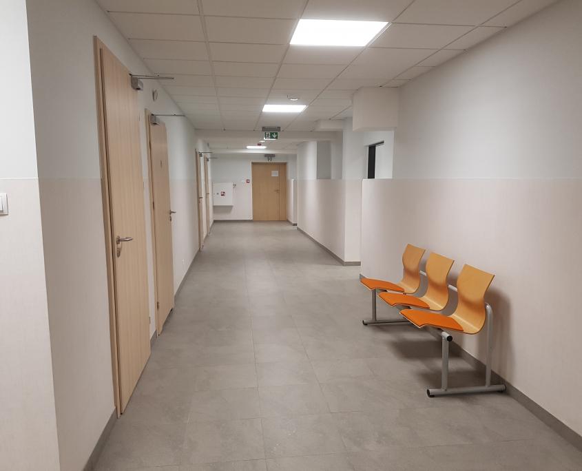 wyremontowany korytarz w Sosnowcu
