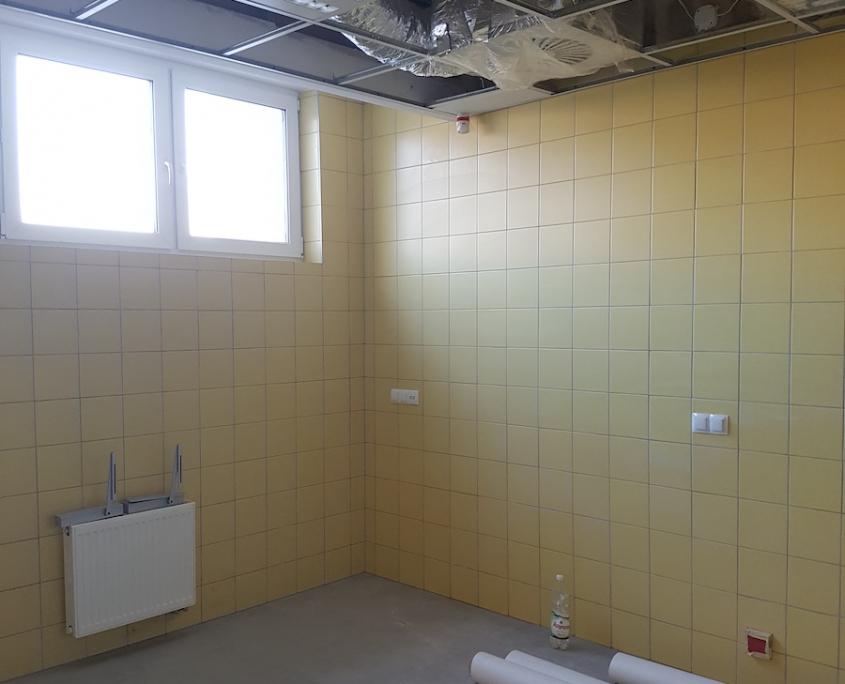 pomieszczenie w trakcie remontu w Sosnowcu