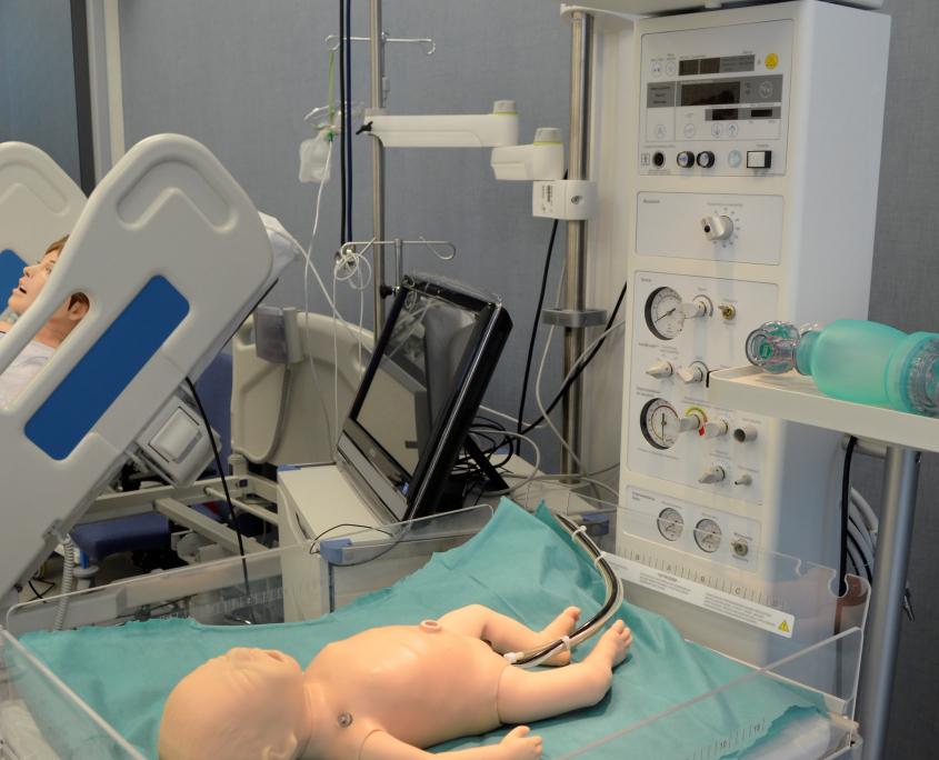 sala porodowa - centrum dydaktyki i symulacji medycznej w Katowicach