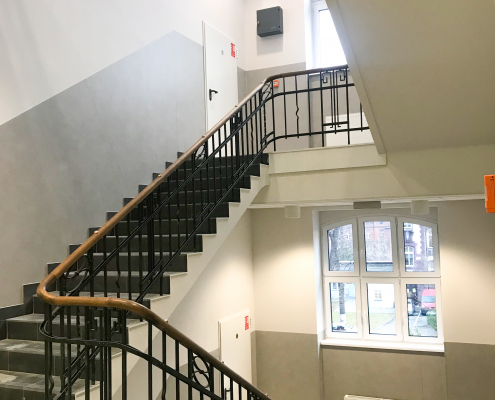 Inwestycje - Wydział Zdrowia Publicznego w Bytomiu - klatka schodowa