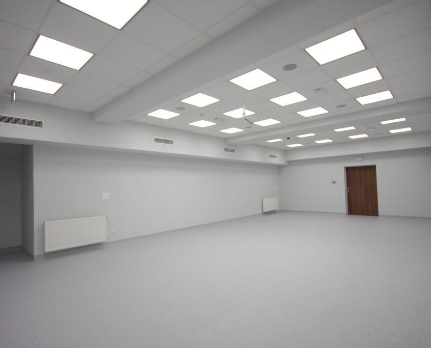 wyremontowane pomieszczenie budynku w Zabrzu