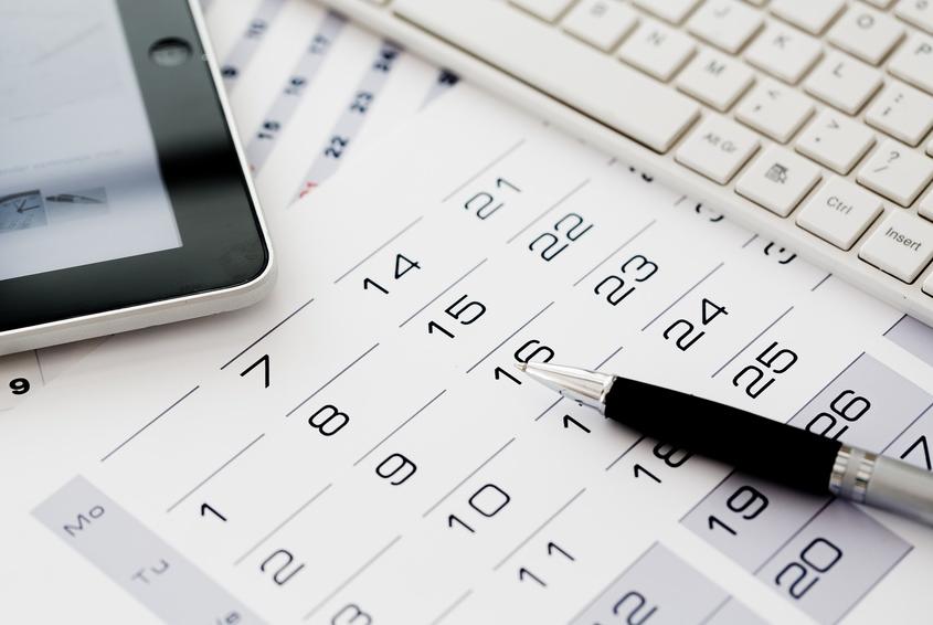 kalendarz, tablet, klawiatura komputera