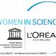 "logo Loreal Usesco ""dla kobiet i nauki"""