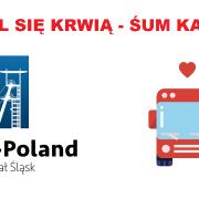"""logo promujące akcję """"podziel się krwią"""""""